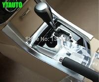 Auto Interior Moulding Trim Hand Brake Gear Panel Sticker For Toyota Corolla 2014 2015 Abs Chrome