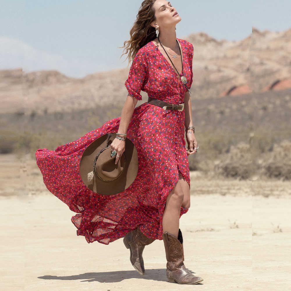 Detail Feedback Questions about 2016 Women new fashion Summer Dress Boho  Chiffon Floral Party Beach Long Maxi Dress vicky shop on Aliexpress.com  5d5c3c3c4c6d