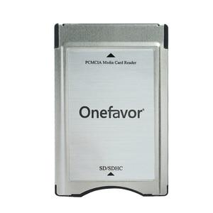 Image 1 - ترقية!!! SDHC محول PCMCIA إلى SD قارئ بطاقات الكمبيوتر لمرسيدس بنز GLK/SLK/CLS/E/C الفئة