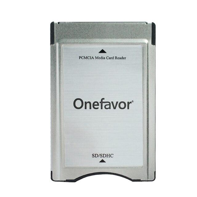ترقية!!! SDHC محول PCMCIA إلى SD قارئ بطاقات الكمبيوتر لمرسيدس بنز GLK/SLK/CLS/E/C الفئة