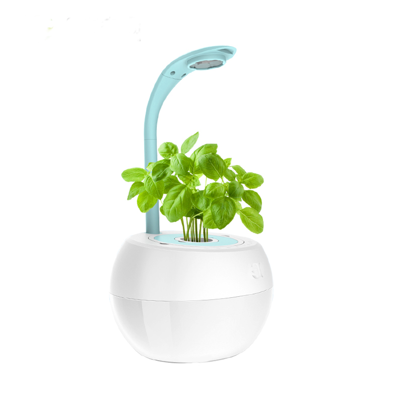 Creative Table Lamp Intelligent flower Hydroponics system without Earth Automatic Watering Plant Growing Nursery Pot