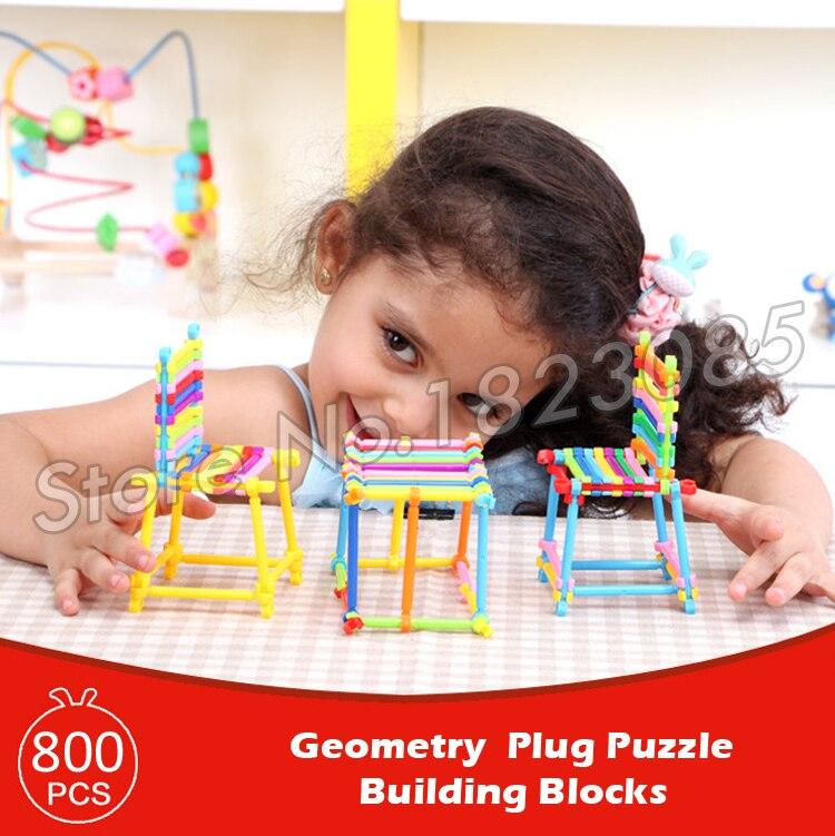 800pcs Geometry Plug Puzzle Model Building Blocks Action Learning Bricks Baby Toys 2016 Boys Girls Gift 8 in 1 military ship building blocks toys for boys