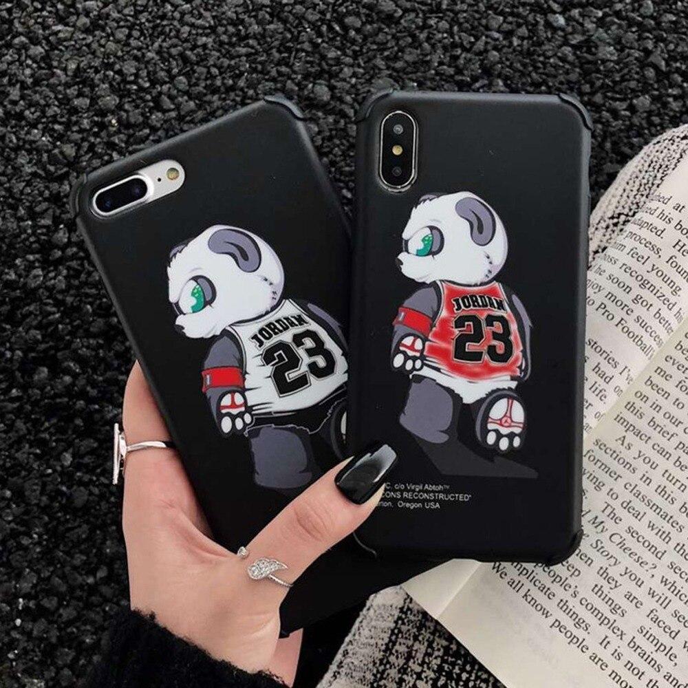 fac05b953fd Fashion Cute Cartoon Lovely Panda Soft Silicon phone cases for iphone XS  XSmax XR X 6 6S 7 8 plus case fly man jordan 23 coque