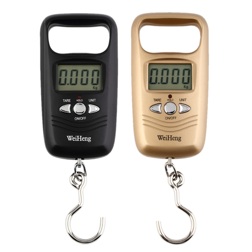 Scale Hook Fish Weight Mini Hanging Scale Pocket Portable 50kg LCD Digital Hanging Luggage Weighting Fishing Hook Scale Electron lcd display 25kg 5g hook hanging luggage fishing pocket scale portable weighing digital scale mini purple