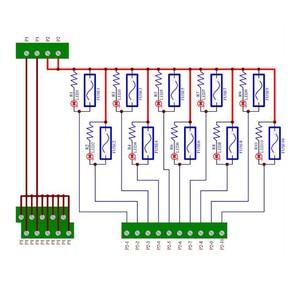 Image 3 - Placa de módulo de fusible de distribución de energía de 10 posiciones de montaje en Panel, para AC/DC 5 ~ 32V.