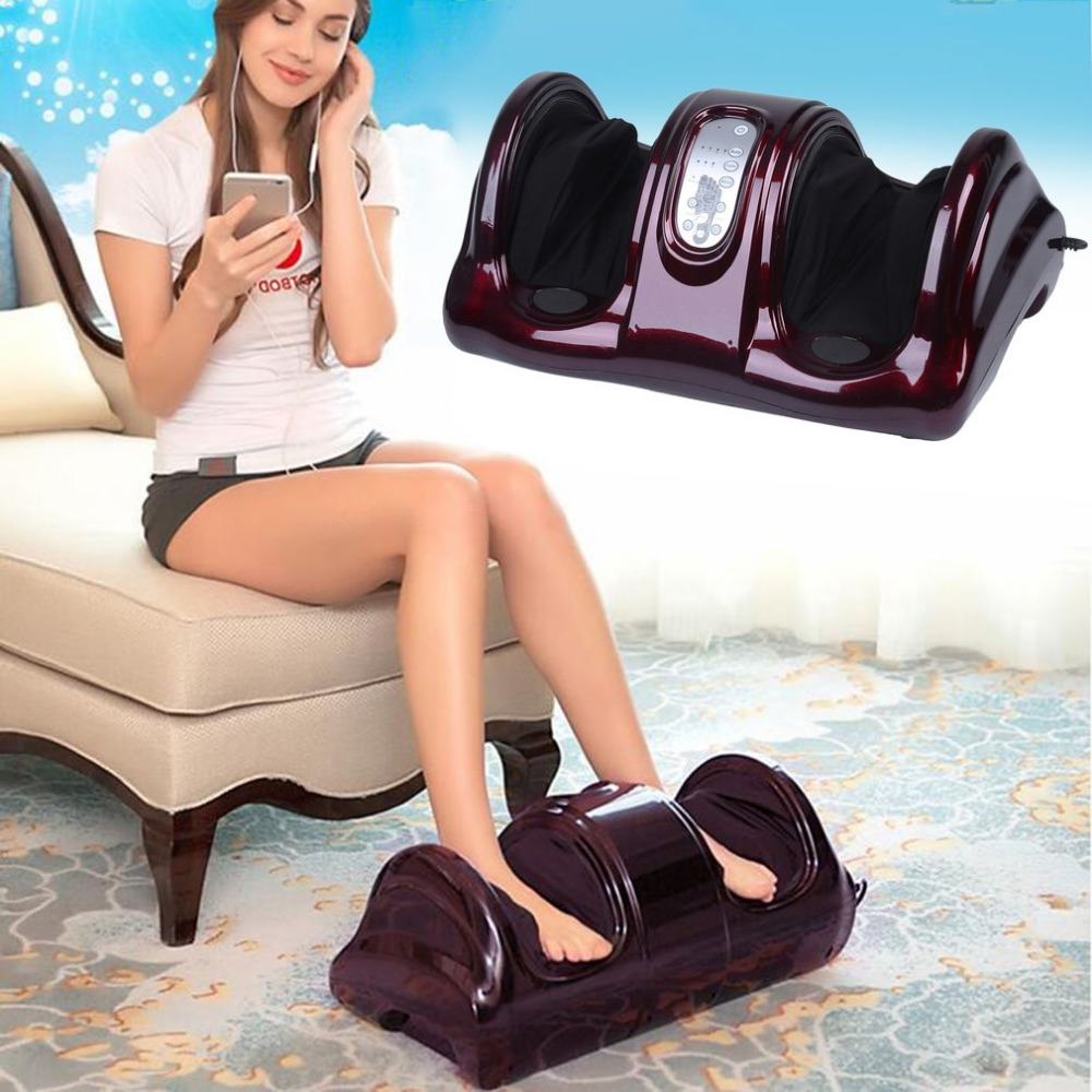 Electric Vibrator Foot Massage Machine Antistress Therapy Rollers Shiatsu Kneading Foot Legs Arms Massager Foot Care Tool Device electric antistress foot massager vibrator foot health care heating therapy shiatsu kneading air pressure foot massage machine