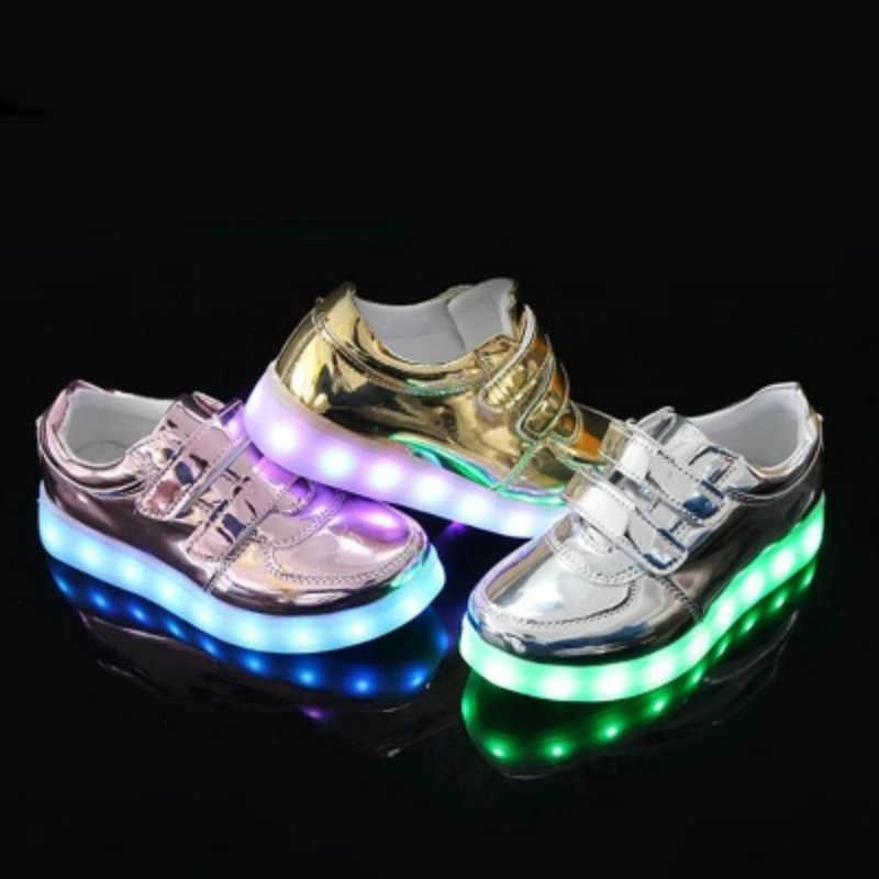 ילד Led אורות נעלי חדש זוהר ילדי סניקרס תינוק נערי ילדה Tenis עם USB טעינה נעלי Led סימולציה זוהר סניקרס