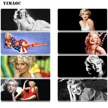YIMAOC Marilyn Monroe Mouse Pad 30x80 cm Computer Mousepad Anti-slip Natural Rubber Gaming Mat