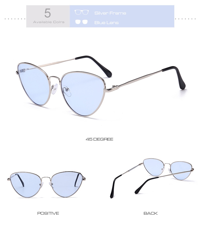 Gafas de sol de ojo de gato Vintage pequeñas y sexis para mujer 9