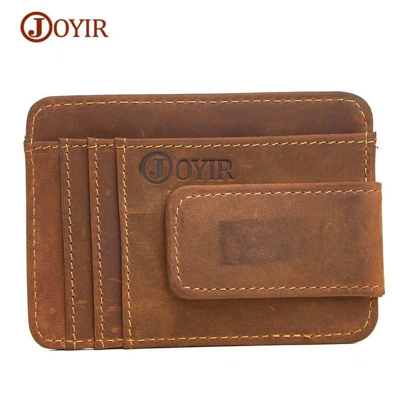 joyir men genuine leather money clip wallet holdings man crazy horse cow leather money holder. Black Bedroom Furniture Sets. Home Design Ideas