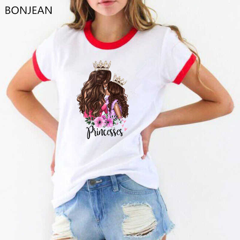 Super mom tshirt Femme Summer tops for women 2019 vogue mom t shirt letters princesses print tee shirt streetwear drop shipping