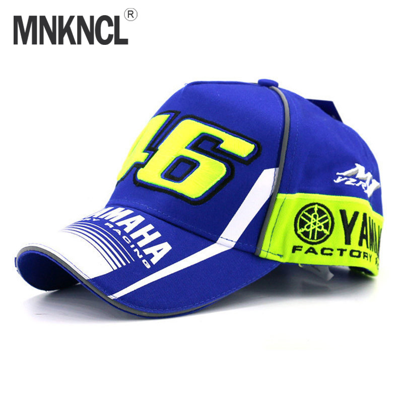 a71acef1483 Best buy 2017 High Quality MOTO GP 46 Motorcycle 3D Embroidered F1 Racing Cap  Men Women Snapback Caps Rossi VR46 Baseball Cap YAMAHA Hats online cheap