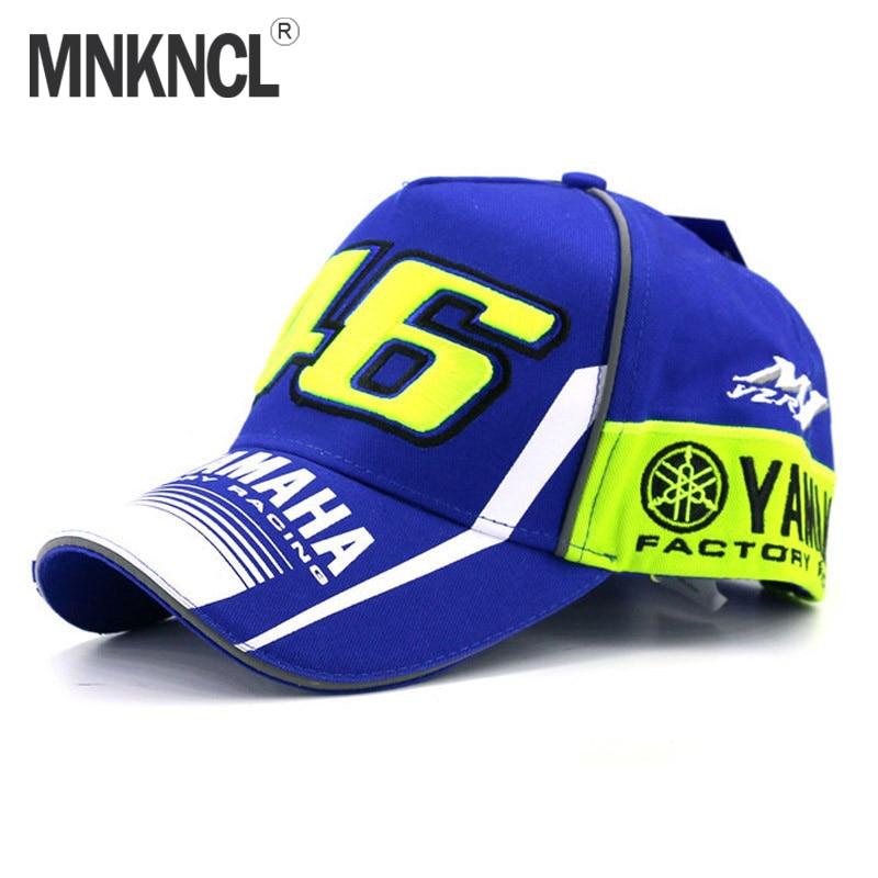 MNKNCL 2017 New Rossi VR46 Baseball Cap MOTO GP 46 Motorcycle 3D Racing Embroidered Cap Men's Women Snapback Caps YAMAHA Hat