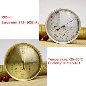 Image 1 - 132Mm 128Mm Analoge Barometer Thermometer Hygrometer 3in1 Weerstation Temperatuur Vochtigheid Sfeer Druk Meter Monitor