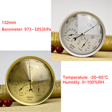 132mm 128mm Analog Barometer Thermometer Hygrometer 3in1 Weather Station Temperature Humidity Atmosphere Pressure Meter Monitor