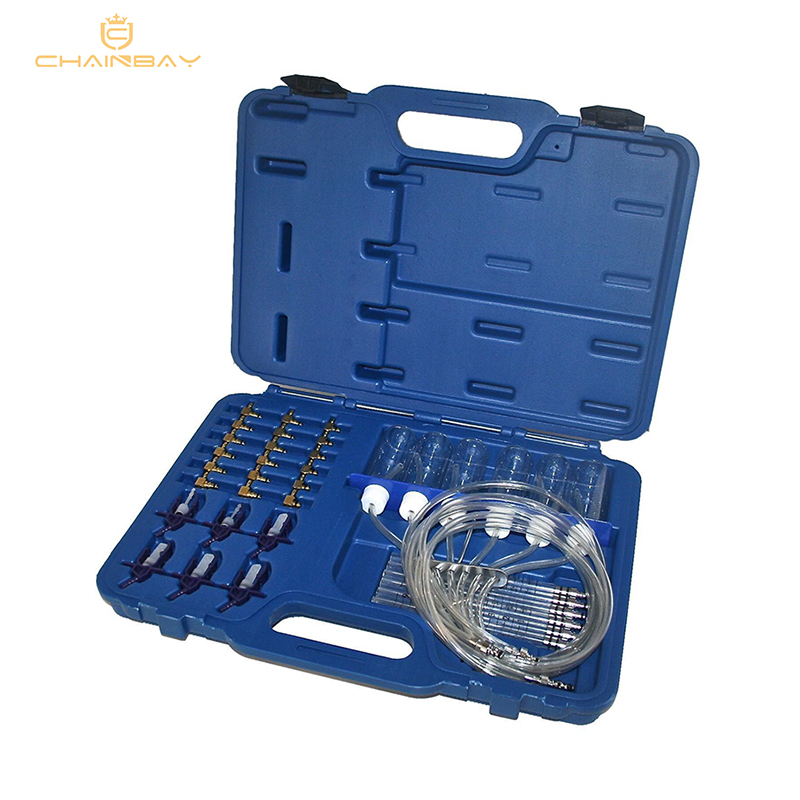 New Diesel Injector Flow Meter Test Kit Common Rail Adaptor Fuel Tester Set Automotive Tools