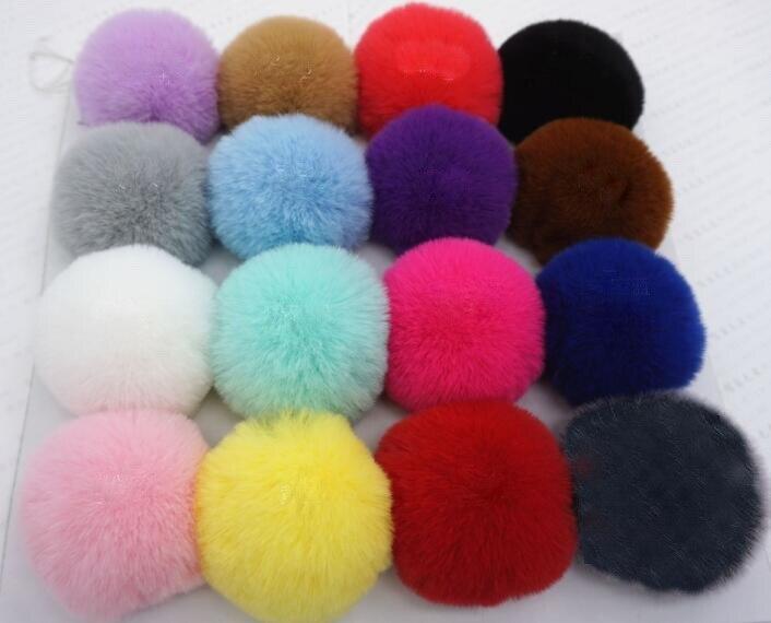 25pcs Pendant 6cm Faux Raccoon Fur Pom Ball for Cloth Beanie Hat Shoes Scarve