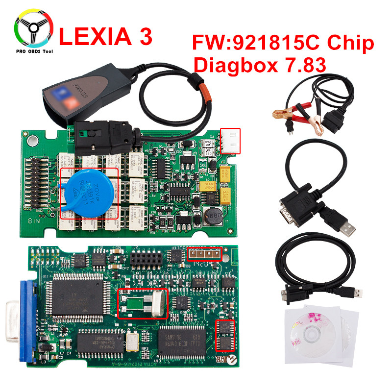 Neueste V7.83 Selbstscanner Lexia3 Mit 921815C Lexia 3 V48 Diagbox 7,83 PP2000 V25 Diagnosewerkzeug Für Citroen Für Peugeot