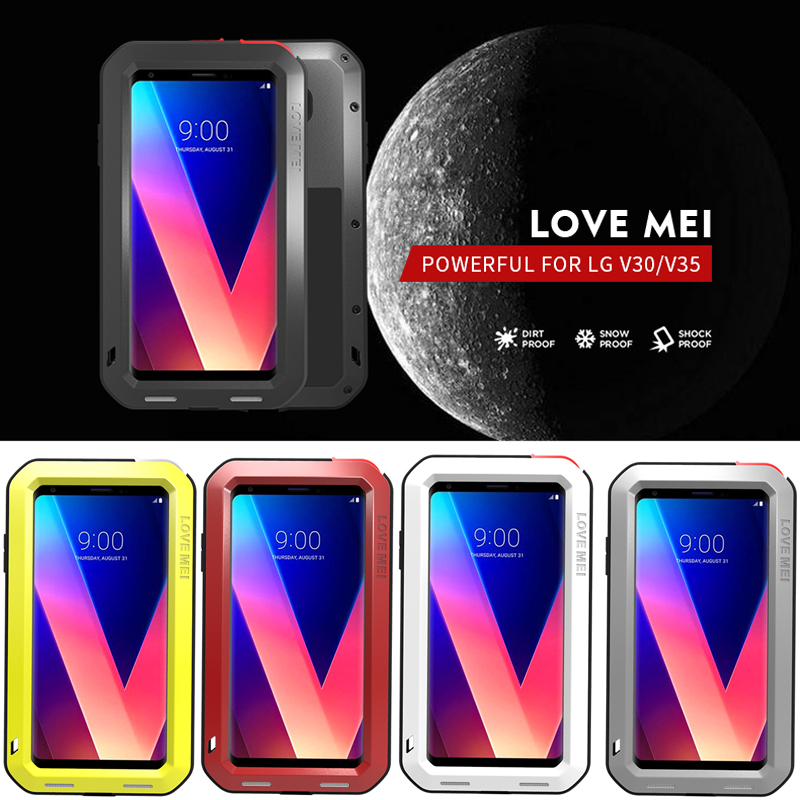 the best attitude 7e59d 7f9b6 US $38.65 |Waterproof Cover for LG V30 V30 Plus V35 ThinQ V30S ThinQ Case  Aluminum Metal Shockproof Case For LG V35 V30+ Heavy Duty Cover-in Fitted  ...