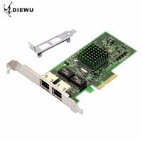 DIEWU PCIE 4X 5709 Browser Gigabit Ethernet Network Card 2 RJ 45 Connection External 10 100