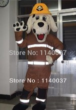 mascot Wholesale Firemen dog Mascot Costume Adult Size spotty dog Firemen Mascotte outfit suit EMS FREE SHIPPING