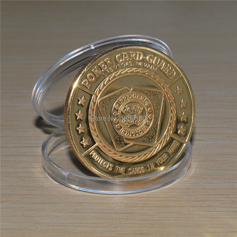 Free shipping 20pcs/lot,Las Vegas Im A Donk - Gold Poker Card Guard Coin - Protects The Cards In Hands