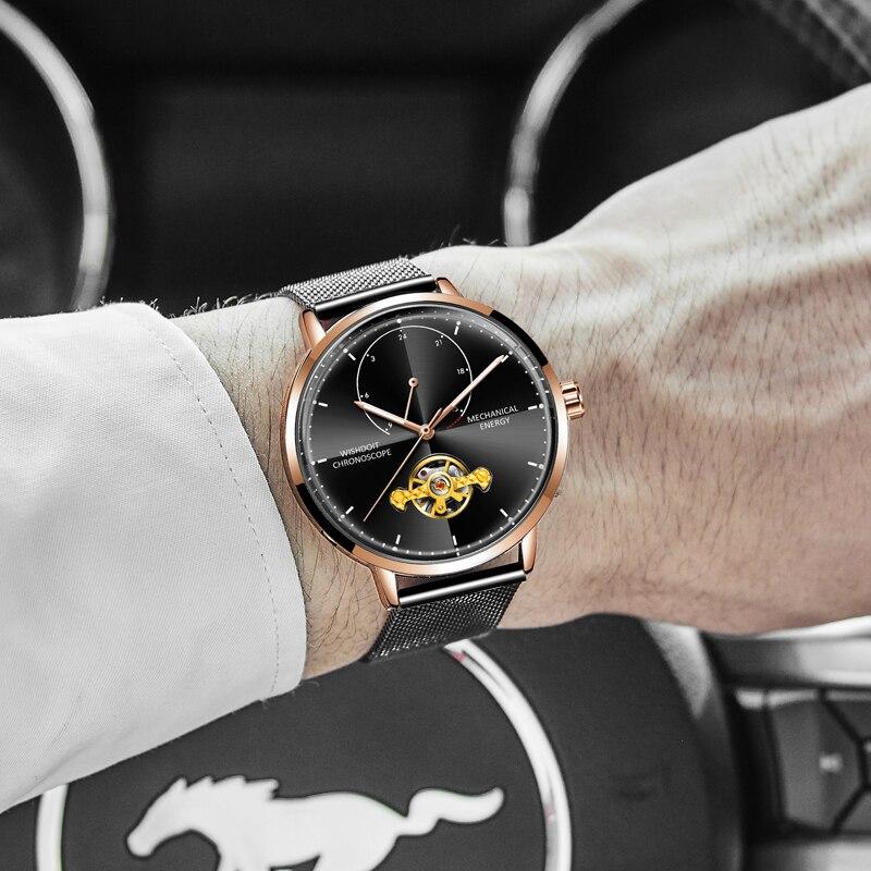 157f2540ea6ab MEGALITH Lüks Altın Otomatik Mekanik Erkek İzle Erkekler Su Geçirmez Dalış  Saatler Aydınlık Paslanmaz Çelik Tourbillon