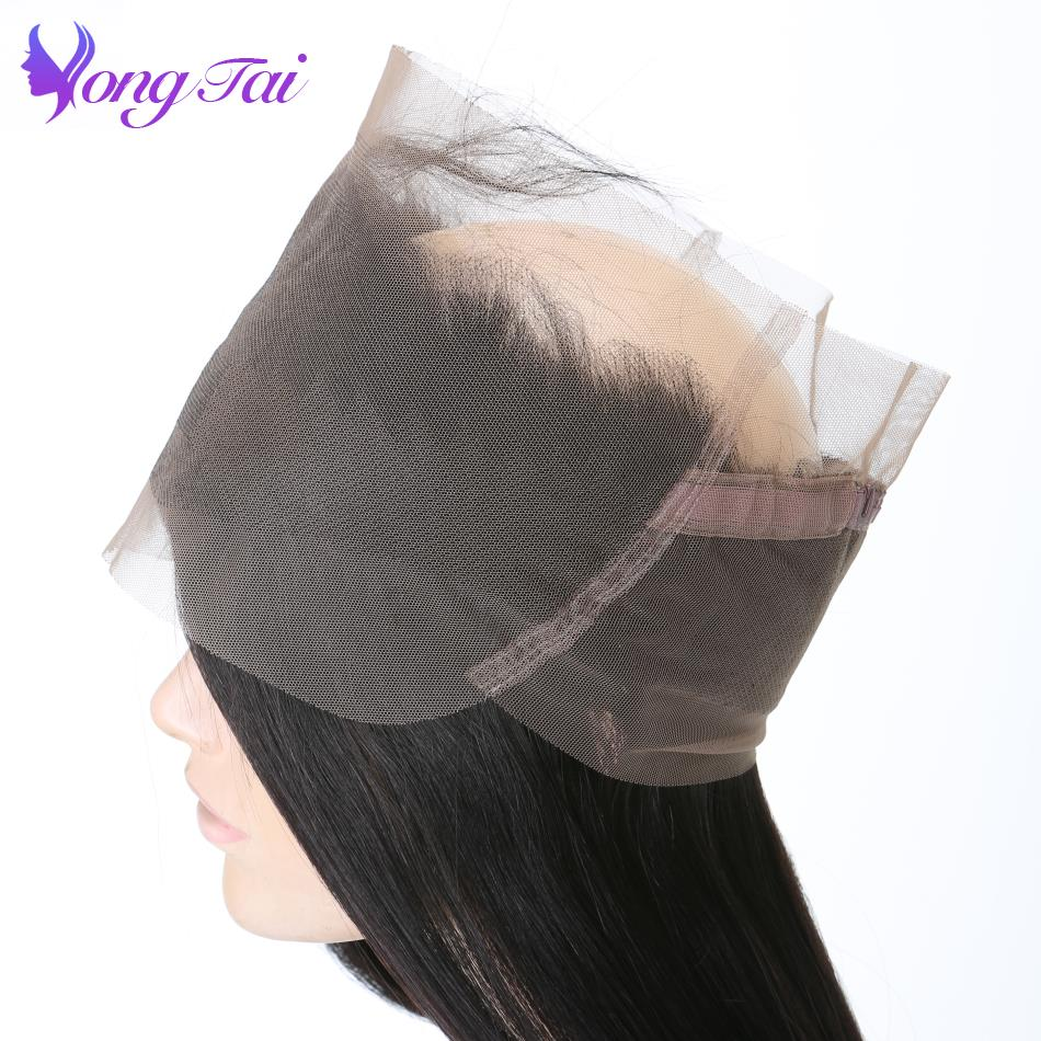 Yongtai Brazilian Straight Hair 360 Lace Frontal Closure 10-20inch Natural Black Free Shipping 100% Human Hair Non Remy