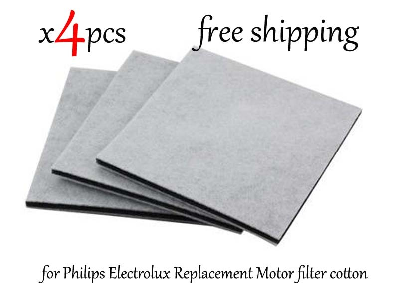 4Pcs/Lot Vacuum Cleaner HEPA Filter for Philips Electrolux Replacement Motor filter cotton filter wind air inlet outlet fIlter 4pcs filters for philips electrolux motor cotton filter wind air inlet outlet filter vacuum cleaner hepa filters