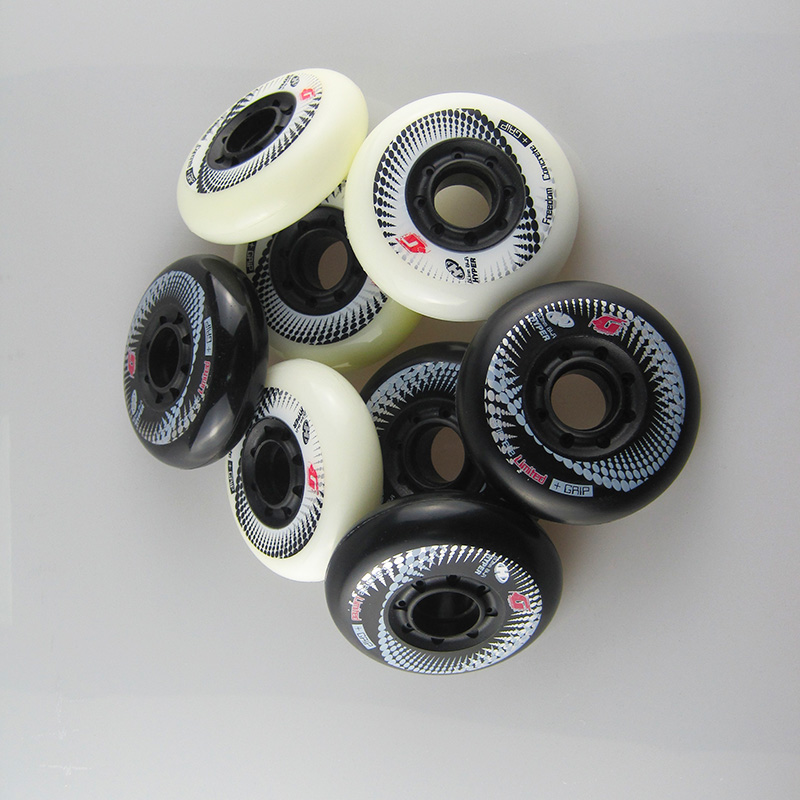 Image 5 - 8pcs 84A Hyper+G Concrete Inline Skate Wheels With ILQ 11 Bearing 80mm Slalom Free Skating Sliding Roller For SEBA Patines Tires-in Scooter Parts & Accessories from Sports & Entertainment