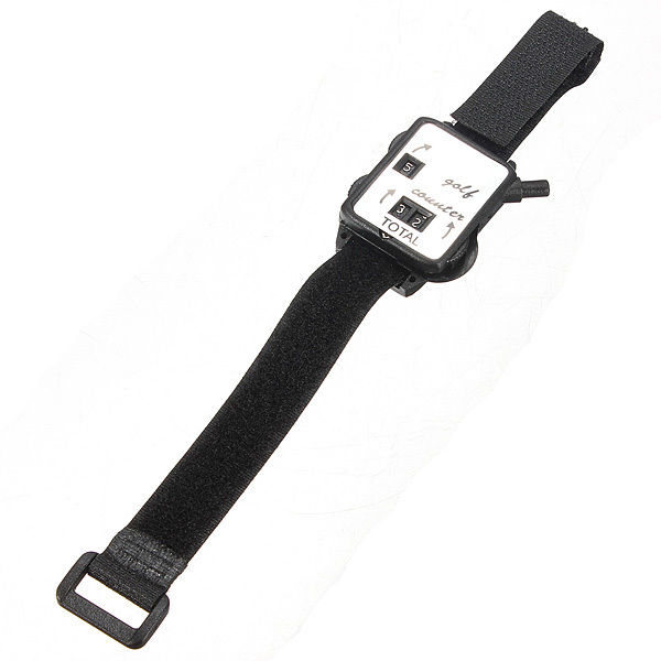 SZ-LGFM-Golf Club Stroke Score Keeper Count Putt Shot Counter Watch w/ Wristband Band Black