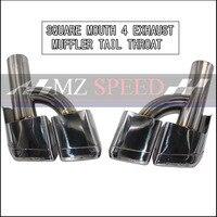 Двойной выход глушитель для выхлопной трубы конец трубы подходит для Benz W212 W207 W204 бампер AMG (h моделирование)