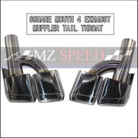 Dual Outlet Exhaust Tips Muffler End Pipe Fit For Benz W212 W207 W204 AMG Bumper ( h modeling )