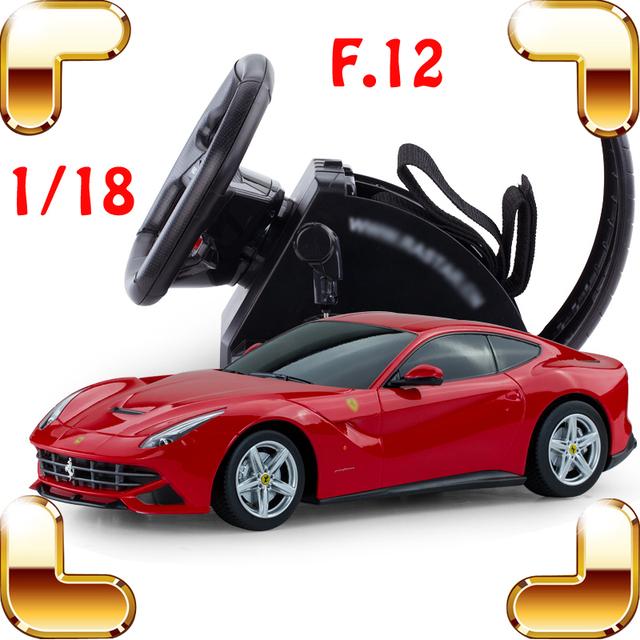 Regalo de navidad 1/18 F12 RC Rueda Del Vehículo de Control de Simulación de Coches de Control Remoto Juguetes de Coches Deportivos de Carreras de Deriva Eléctrica Actual