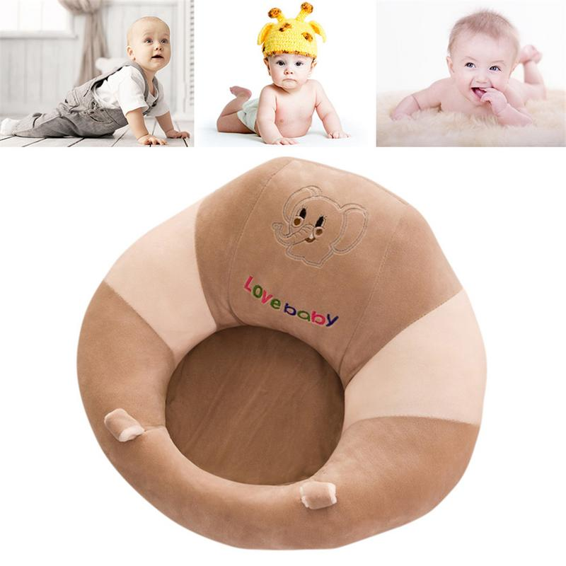 Baby Learning Seat Portable Dining Chair Sofa Cartoon Cushion Support Chair Sofa Baby Plush Soft Plush Toys