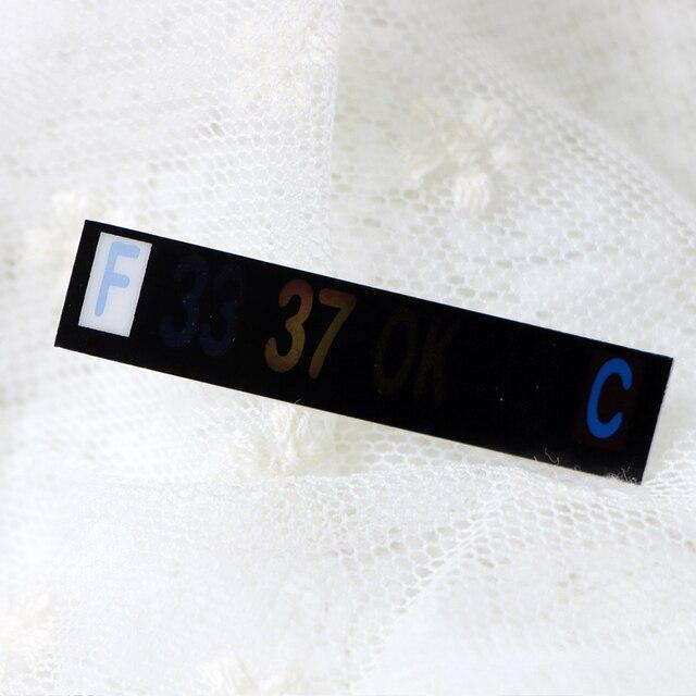 3pcs/Lot Infant Milk Bottle Temperature Thermometer ABS Digital Sticker Thermometer Infant Milk Bottle Temperature Plastic Strip 4