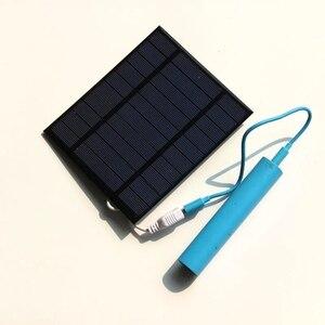 Image 2 - BUHESHUI 4 Inch Koeling Ventilator USB 2.5 W 5 V Zonne energie Panel Ijzer Ventilator Voor Thuis Kantoor Outdoor reizen Vissen
