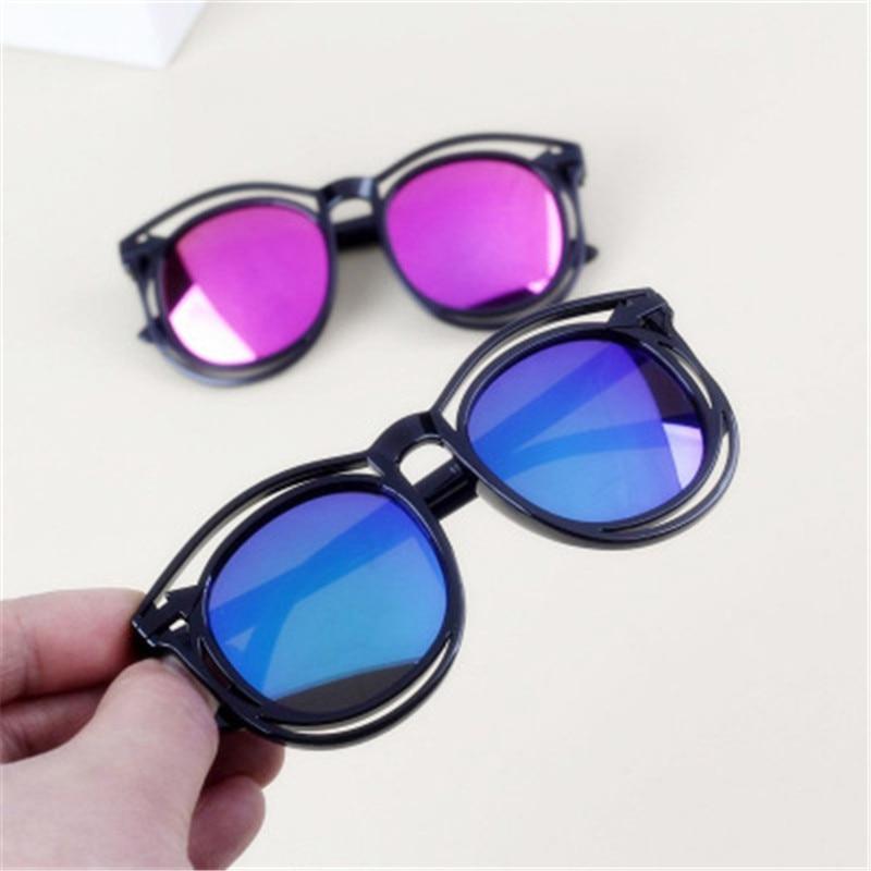 Kids Sunglasses 2018 New Product Designer Children Boy Fashion Color Sunglasses Square Bilateral Hollow Girls Sun Glasses UV400
