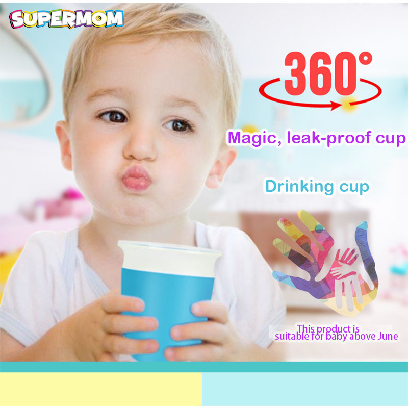 Baby Drinking Water Bottle Feedkid Anti Spill Kid Learn Drink Cup With Handle Sippy Cup Child Feeding Magic Leak Proof Bottle