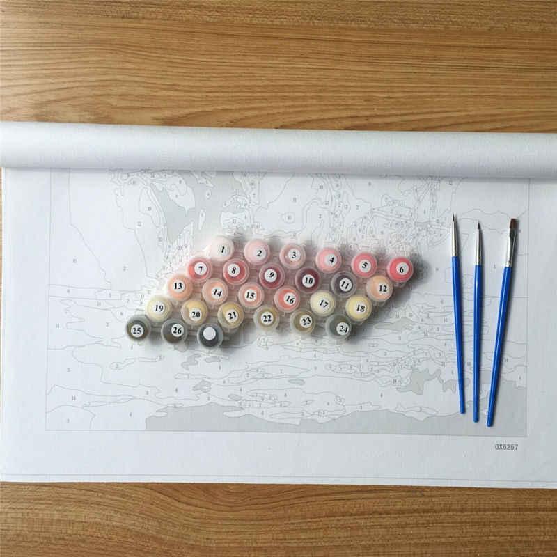 الملونة مجردة الأسد مؤطرة لوحة فنيّة والخط دهان داي بواسطة أرقام تلوين بواسطة أرقام GX8999 40*50 سنتيمتر