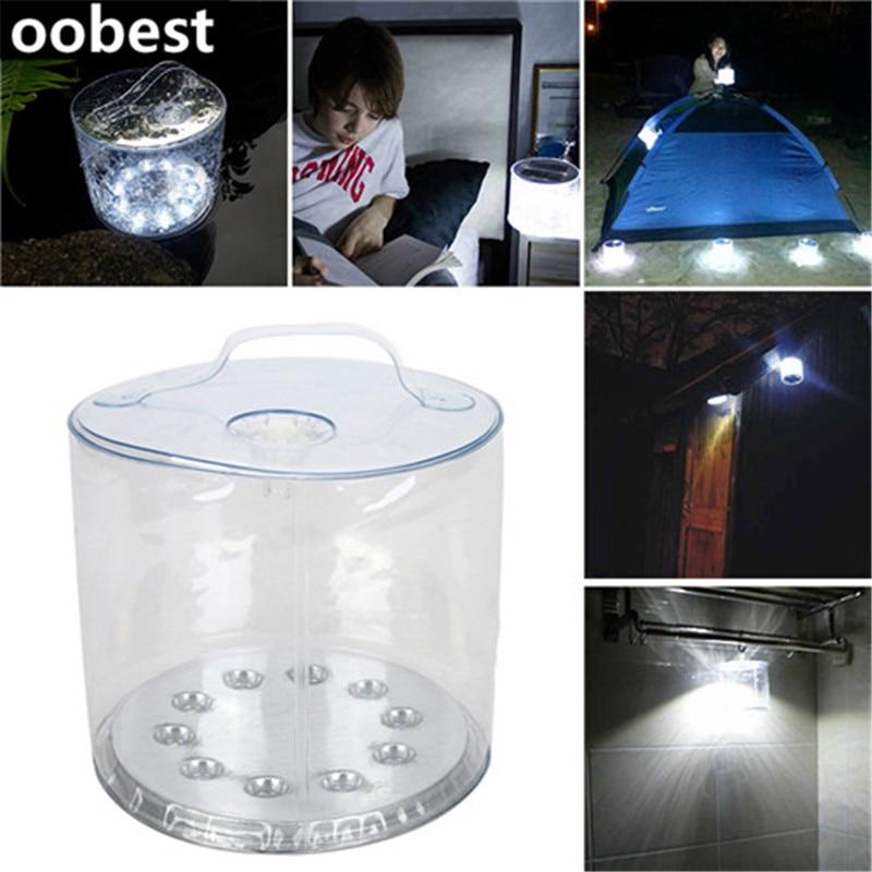 Oobest 10 LED Solaire Propulsé Pliable Gonflable Portable Lumière ...