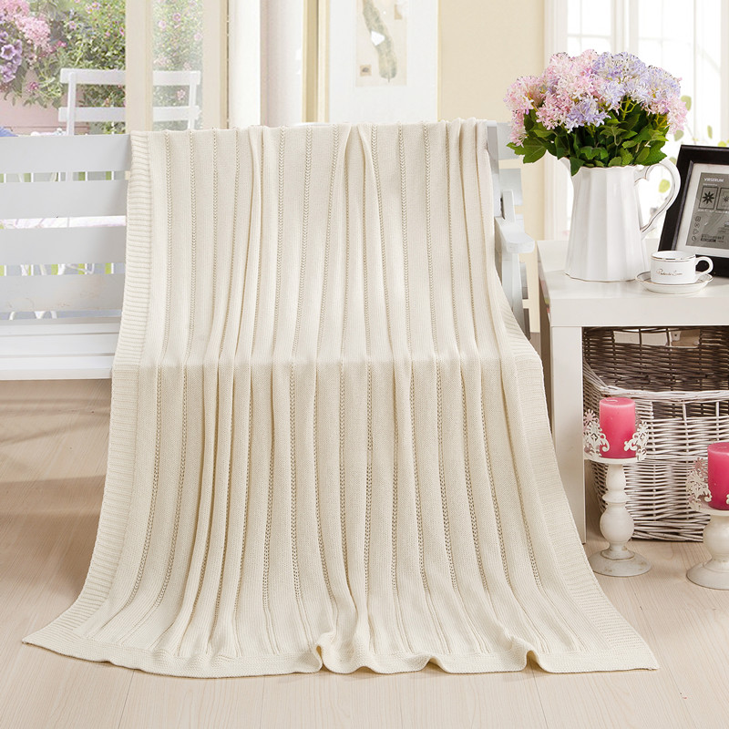 ФОТО 120*180cm 100% cotton knitted blanket yarn blanket summer air conditioning blanket tailslock bed flag