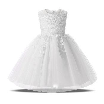 White Flower Princess Dresses Baptism For Girls First Holy Communion Formal Events Prom Gown Children Wedding Girl Kids Dress