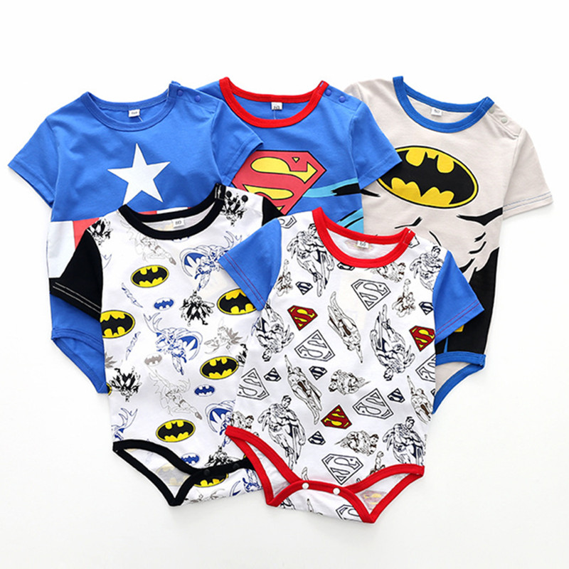 Dfenere Go Beyond Casual Newborn Baby Short Sleeve Bodysuit Romper Infant Summer Clothing