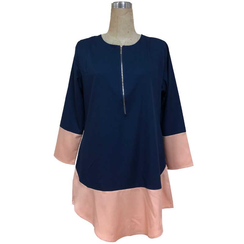 Blusa musulmana Malasia árabe ropa islámica tops largos indonesia dubai kaftan camisas largas mujeres musulmanas ramadan señoras tops