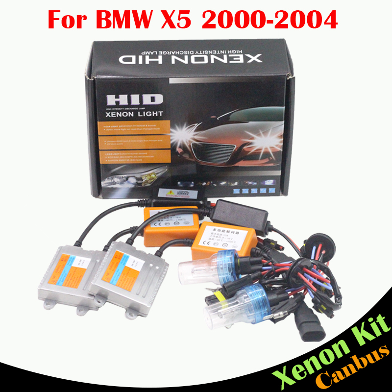 Cawanerl For BMW X5 2000-2004 55W H7 Auto Light No Error HID Xenon Kit Ballast Lamp AC 3000K-8000K Car Headlight Low Beam