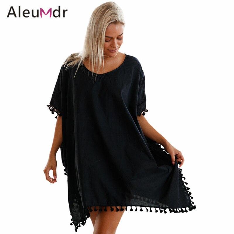 713b5b19f4 Aleumdr Women Beach Cover Up Swimwear Beachwear Summer Tassel V-neck ...