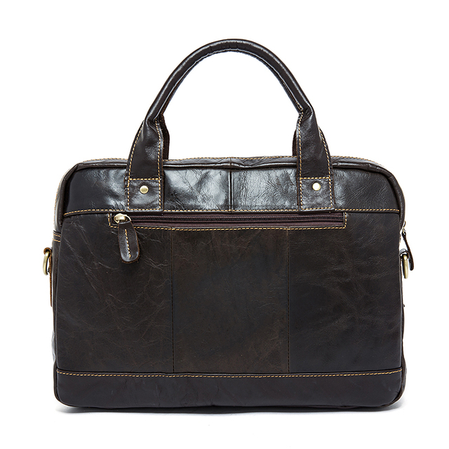 MVA men's bag/briefcase leather office/laptop bag for men's genuine leather bag 2