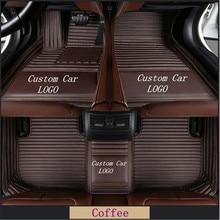 Custom Car Floor Mats For Peugeot 307 Sw 308 107 206 207 301 407 408 508 2008 4008 5008 Car Waterproof Mats Auto Accessories
