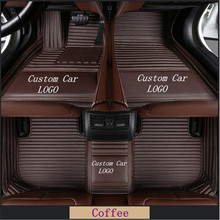 For Tl 2004-2014 Luxury Custom Car Floor Mats Logo  Auto Foot Pads Automobile Carpet Front And Rear Waterproof Pad